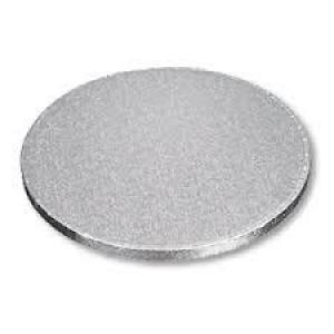 Masonite Cake Board Round Silver 14