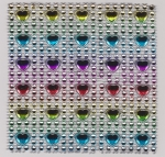 Bling Squares Multi-coloured Hearts