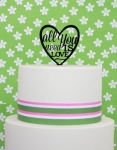 Acrylic Cake Topper - All You Need Is Love