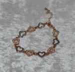 Equilibrium Bracelet Multi Heart Gold **CLEARANCE COST PRICE ONLY**