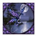 Anne Stokes Tile - Dragonfly