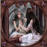 Anne Stokes Tile - Magic Mirror