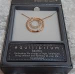 Equilibrium Necklace Diamante Circle
