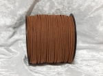 Faux Suede Cord Flat 3mm Brown