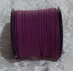 Faux Suede Cord Flat 3mm Dark Purple