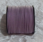 Faux Suede Cord Flat 3mm Lilac