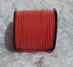 Faux Suede Cord Flat 3mm Red