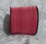 Faux Suede Cord Flat 3mm Rose