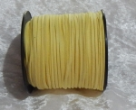 Faux Suede Cord Flat 3mm Yellow