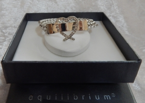 Equilibrium Bracelet Heart Buckle White **CLEARANCE COST PRICE ONLY**