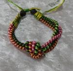 Woven Eternity Knot Bracelet - Green/Pink/Purple