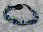 Beaded Zig Zag Bracelet - Blue/Green