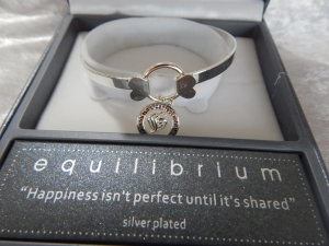 Equilibrium Bangle Inspirational Charm Happiness **CLEARNACE COST PRICE ONLY**