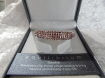 Equilibrium Bangle Diamante Oval Pink **CLEARANCE COST PRICE ONLY**
