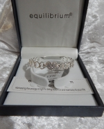 Equilibrium Bangle Diamante Heart Crystal **CLEARANCE COST PRICE ONLY**