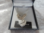 Equilibrium Necklace Diamante Heart Friendship **CLEARANCE COST PRICE ONLY**