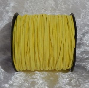 Faux Suede Cord Flat 3mm Bright Yellow