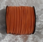 Faux Suede Cord Flat 3mm Burnt Orange