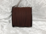 Faux Suede Cord Flat 3mm Chocolate Brown