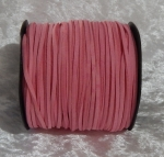 Faux Suede Cord Flat 3mm Dark Pink