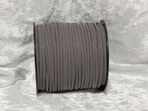 Faux Suede Cord Flat 3mm Grey