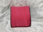 Faux Suede Cord Flat 3mm Hot Pink
