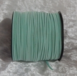 Faux Suede Cord Flat 3mm Mint Green