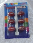 Novelty 6pc Aussie Rules Goal Post Candle Set