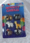 Novelty 6pc Jungle Animals Candle Set