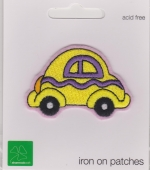Iron On Patch Car Yellow