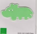 Iron On Patch Dino Green