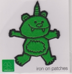 Iron On Patch Green Unicorn