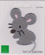 Iron On Patch Mouse