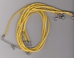 3mm Yellow Braided Leather Necklace Cord