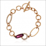 Crystal Ice Bracelet with Swarovski Elements Gold Purple 20011 **CLEARANCE COST PRICE ONLY**