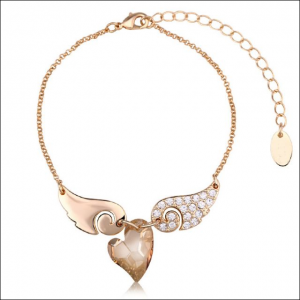 Crystal Ice Bracelet with Swarovski Elements Angel Champagne 20013 **CLEARANCE COST PRICE ONLY**