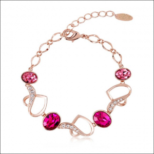 Crystal Ice Bracelet with Swarovski Elements Gold Rose 20019 **CLEARANCE COST PRICE ONLY**