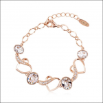 Crystal Ice Bracelet with Swarovski Elements Gold Clear 20019 **CLEARANCE COST PRICE ONLY**