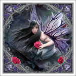 Anne Stokes Tile - Rose Fairy