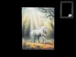 Anne Stokes Canvas - Glimpse of a Unicorn