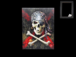 Anne Stokes Canvas - Pirate Skull