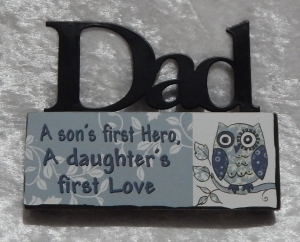 Plaque Mini Table Top Sign - Dad