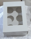 Cup Cake With PVC Window (holds 6 cupcakes)