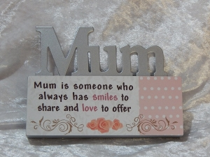 Plaque Mini Table Top Sign - Mum