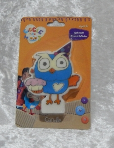 Novelty Hoot Flat Candle