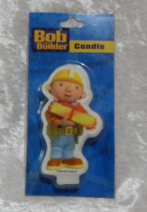Novelty Bob the Builder Flat Candle - Present