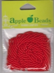 Glass Seed Beads 2.2mm Opaque Red Pack of 6