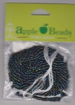 Glass Seed Beads 2.2mm Rainbow Moonglow Pack of 6
