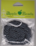 Glass Seed Beads 2.2mm Rainbow Gunmetal Grey Pack of 6