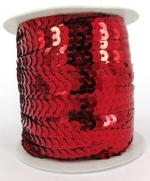 Sequin String Red approx. 45m Roll